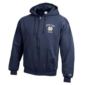 Clayson Sweaters - University of Notre Dame Irish Zip Hoodie